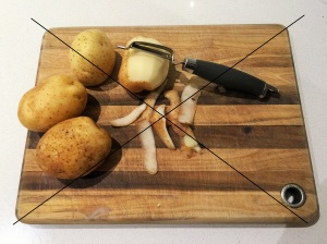 Do not peel on a chopping board